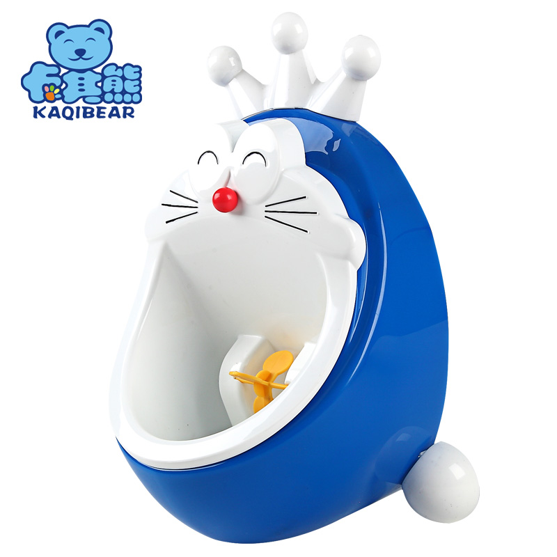 KAQIBEAR Doraemon Cartoon Baby Boy Potty Kid Toilet Pee Wall-Mounted Potty For Children Stand Pee Urinal Boy Toddler Pee Pot