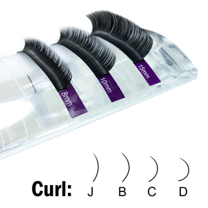 Image 3 - NAGARAKU vizon kirpikler makyaj Maquiagem 3 kılıfları/lot bireysel kirpik Faux Cils yanlış kirpik Cilios güzellik
