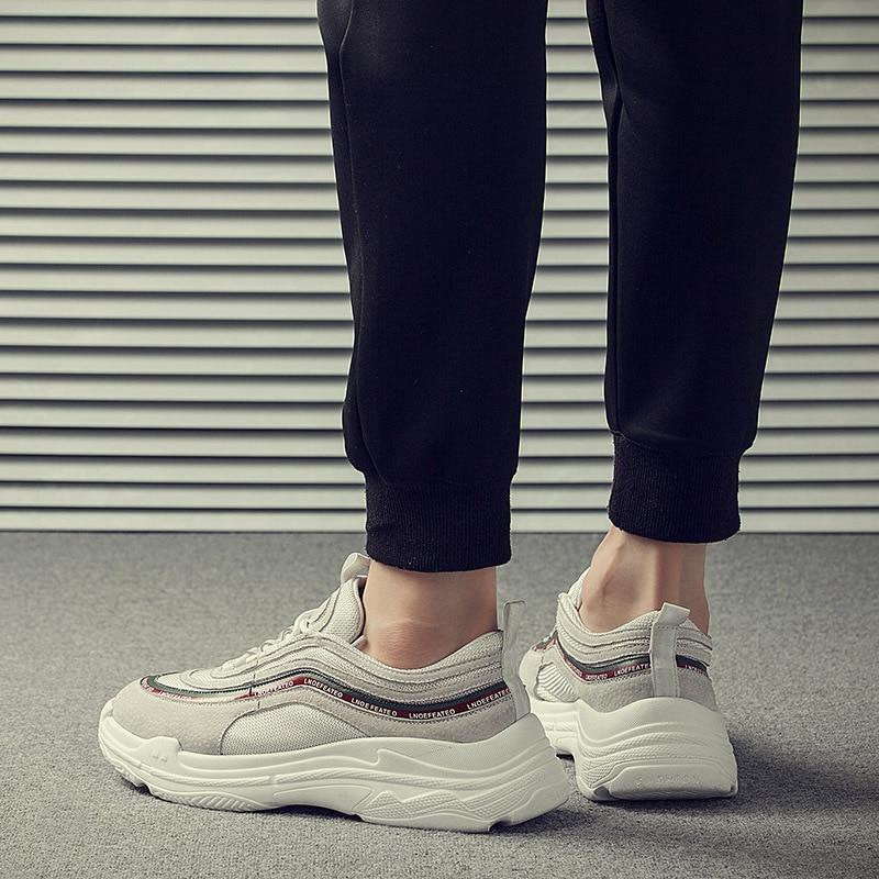 Homens Dos De Aumentar Estilo Novos 2018 Casual Verão Lazer Costura Coreano Sapatos branco Superior Preto Y00Hwgq