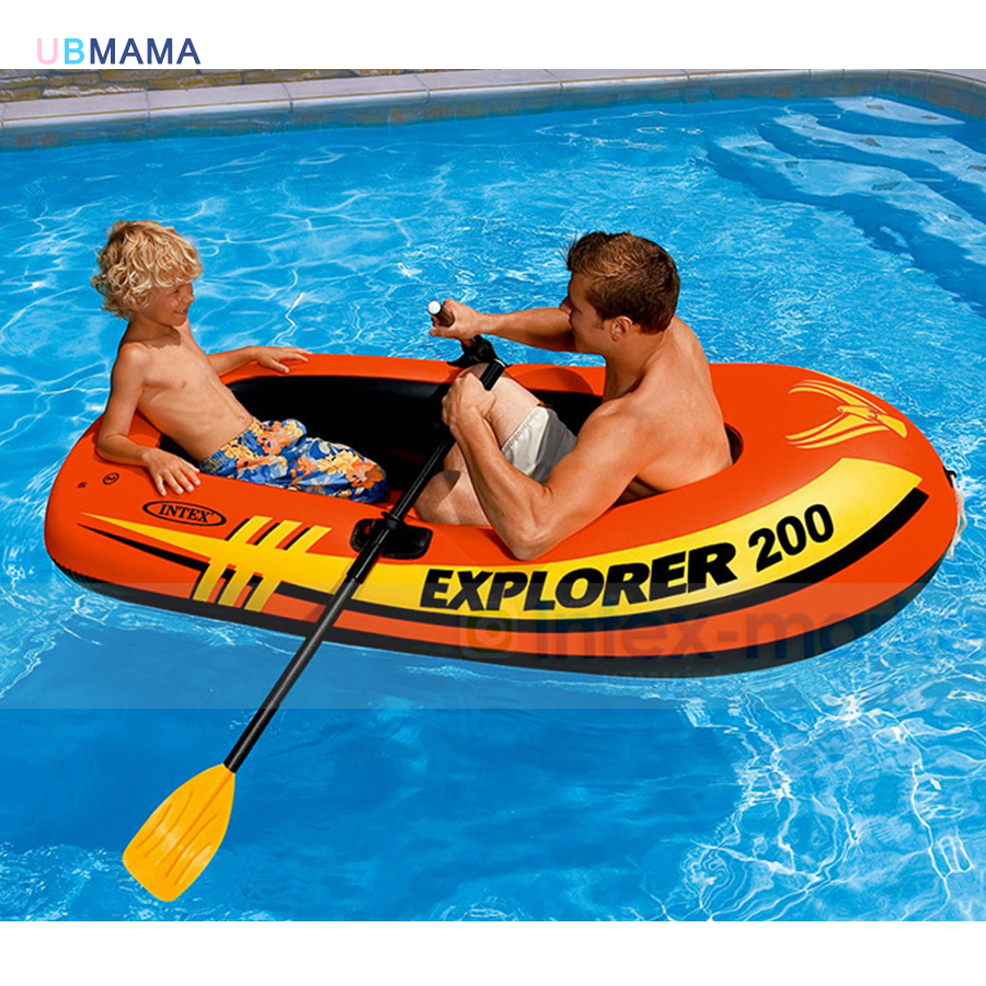 High Quality Explorer Two Inflatable Fishing Boats Thickened Double Rubber Rowing Boat Paddles and Pumps rowing boats rubber boat kit pvc inflatable fishing drifting rescue raft boat life jacket two way electric pump air pump paddles