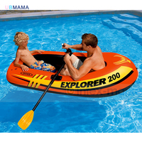 High quality safe fun double person inflatable boat thick material PVC Inflatable bottom pool accessories 185*94*41CM