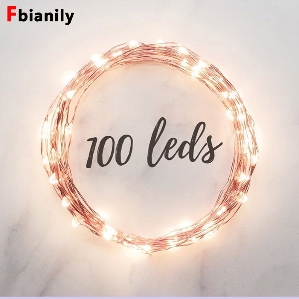 Led String Led Lighting Led Strings Copper Wire 3xaa Battery Operated Christmas Wedding Party Decoration Led String Fairy Lights