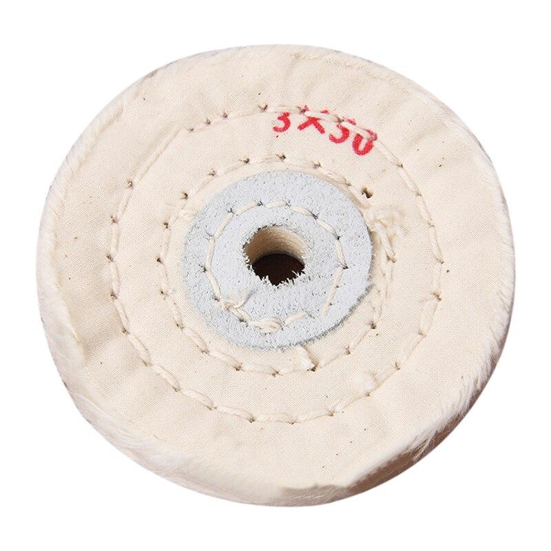 Hoomall Polishing Cloth Wheel 3 Inch Cloth Wheel Polishing Machine Taiwan Mill Micro-wheel Cloth Wheel Internal Diameter 10mm