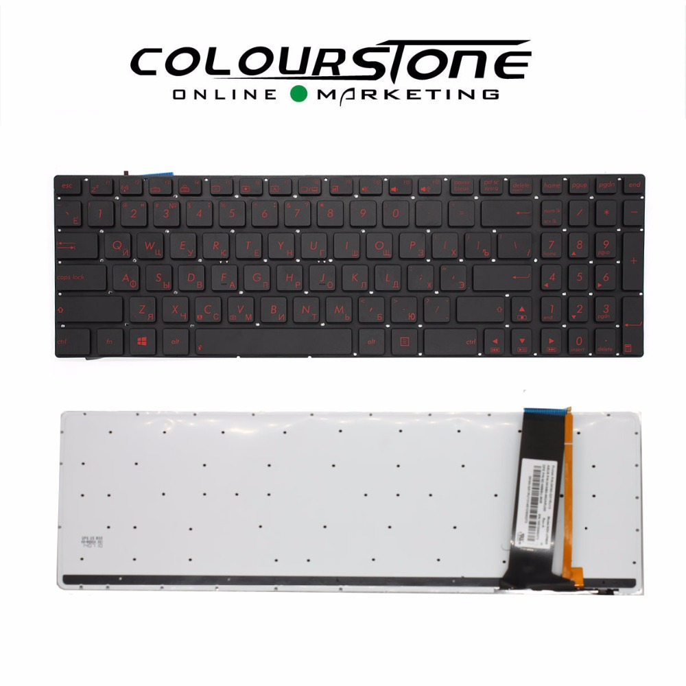 New RUSSIA Black with backlit Laptop keyboard for ASUS G550 Q550 N56 Q550L Black Keyboard laptop keyboard for asus a52 n50 f52 m60 n60 n90 w90 x62 x66 black po portugal v090562ak1 po