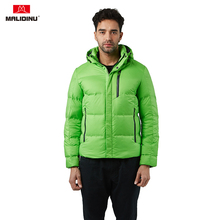 MALIDINU 2019 Down Jacket Men Winter Down Coat Parka Thick Warm Hooded Winter Jacket Duck Down Jacket European Size Outdoor -30C цены онлайн