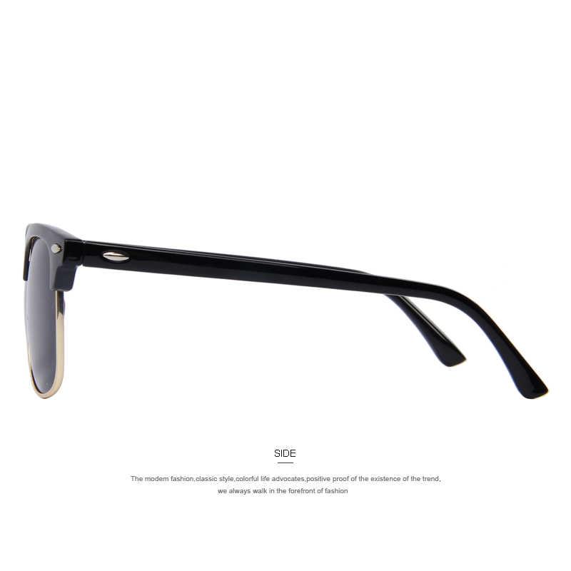 Мужские поляризованные солнцезащитные очки в стиле ретро с заклепками, классические брендовые дизайнерские солнцезащитные очки унисекс, UV400
