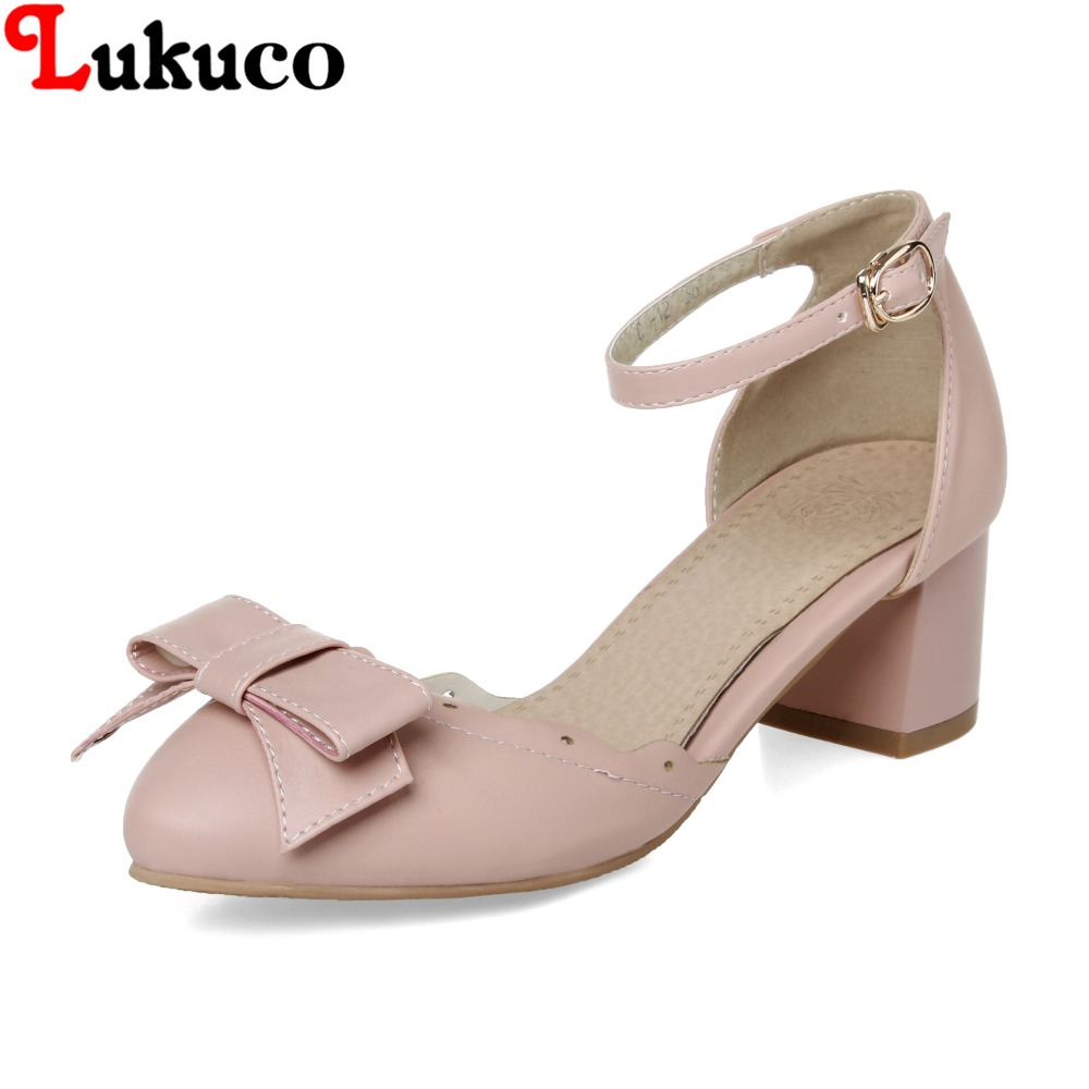 ФОТО NEW ARRIVAL lady summer shoe 40 41 42 43 44 45 46 sweet lady pumps bowtie design made of high quality PU leather free shipping