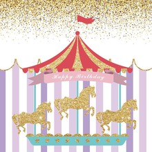 Laeacco Baby Tent Colorful Stripes Glitters Carousel Photography Backgrounds Customized Photographic Backdrops For Photo Studio pu
