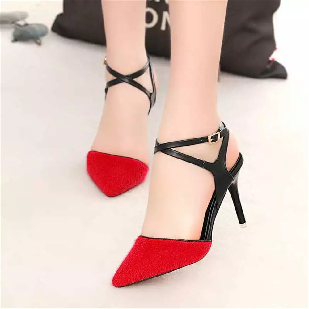 Sexy Strappy Black Heels