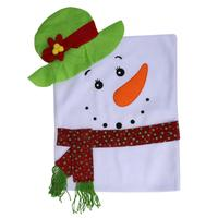 1pc Christmas Snowman Chair Covers Chrismas Decorations For Home Dinner Table Party Seat Cover New Year