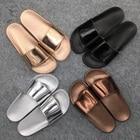 Women Slides 2018 Fashion Slippers Platform Sandals Summer Bling Beach Slides Flip Flops Comfortable Flat Shoes Chaussure Femme