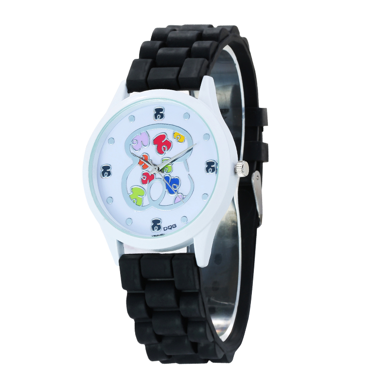 reloj mujer relojes hombre Hot Brand Silicone Women Watches Quartz Watch Men Bear Clock