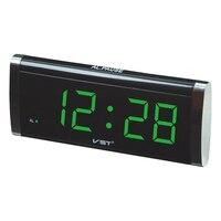 1 4 Inch LED Timer Slim Large Display Table Clock Blue Green Red Color Desktop With