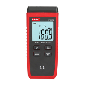 Image 2 - UNI T UT373 Mini Digital Laser Tachometer Non Contact Tachometer RPM Range 10 99999RPM Tachometer Odometer Km/h Backlight