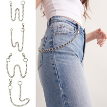 Pants Chain Punk Hipster Trousers Key Chains Metal Wallet Belt Chain Pant Keychain Unisex HipHop Jewelry men jewelry heavy brass metal waist biker wallet key chain rock punk trousers motorcyle hiphop leather pant jean chains hot