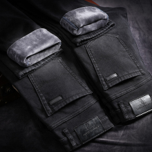 Winter Jeans For Men Men'S Warm Pantalones Pitillos Hombre Black Streetwear Jean Biker Calca Masculina Pants Street Slim Marcas