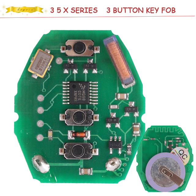 Keyecu Rechargeable Remote Circuit Board 433 92mhz For Bmw 3 5 X