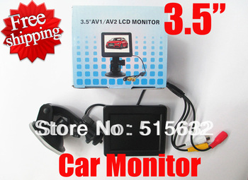 high quality 3.5 inch HD Car monitor Car digital Color TFT LCD Monitor Rearview DVD with alarm image