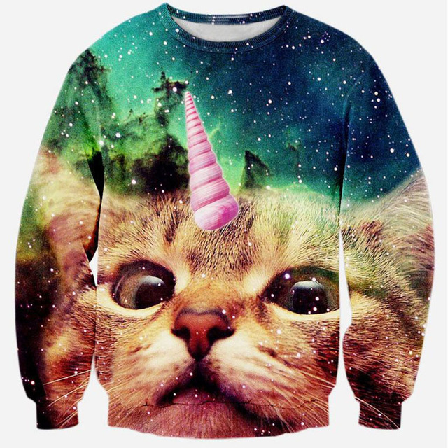 High Quality 22 Style Cat Printed Sweatshirt