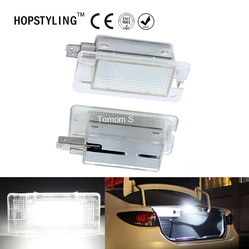 Car styling 2x LED luggage Compartment Light auto Interior Glove box Lights For Hyundai Elantra Avante Accent Sonata Genesis for volkswagen passat b6 b7 b8 led interior boot trunk luggage compartment light bulb