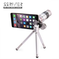 SSRIVER Universal 18X Zoom Optical Telescope With Mini Tripod For IPhone 6 7 Samsung S7 S6