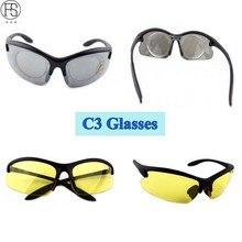 Фотография FS C3 Sunglasses Men CS Tactical Motocycle Cycling Outdoor Sports Gafas Goggles