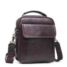 цена на New retro Brand Men Messenger Bag Men Leather Shoulder Bag New Business Briefcase Casual Crossbody Bag For IPAD Bolsas Male