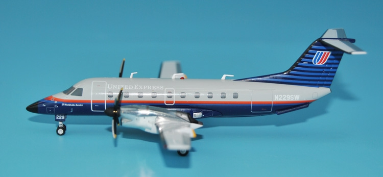 Special offer GeminiJets1: 200 G2UAL605 United Airlines Express EMB-120 Alloy aircraft model Collection model Holiday gifts bbox200 1 200 american frontier airlines boeing 737 200 aircraft model n1pc alloy collection model
