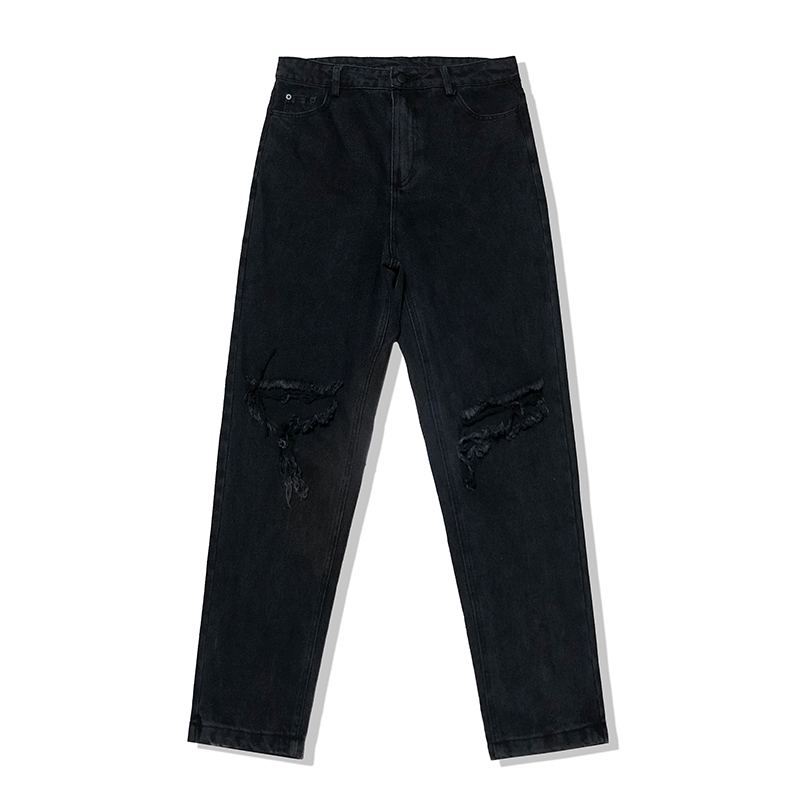 Fashion Casual Men 39 s Jeans Spring And Autumn New M 2XL Solid Color Loose Straight Pants Black Personality Youth Popular in Jeans from Men 39 s Clothing