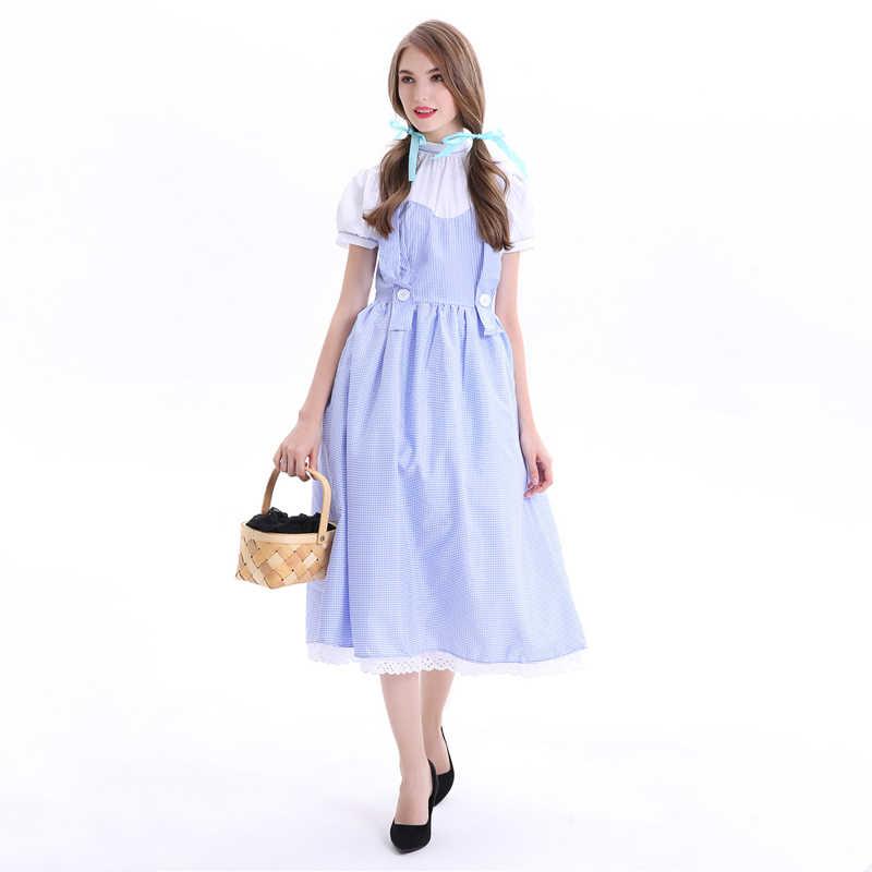 Новое поступление волшебник унции Дороти косплей Женский костюм на Хеллоуин карнавальный костюм принцессы маскарадный вечерние платья