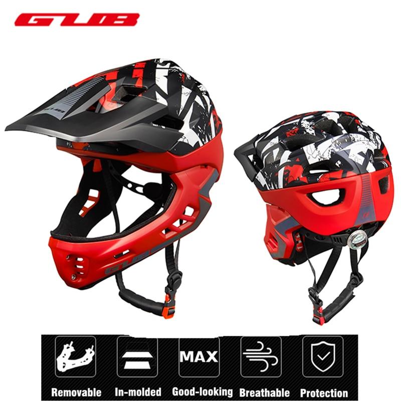 Kids Trainer Full Covered Bike Helmet Downhill DH Fullface Children Bicycle Sports Safety Helmet Boys Full