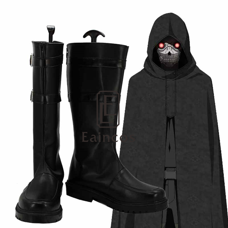 a21e092d41f36 Anime Sword Art Online Death Gun Black Boots Cosplay Halloween Party Shoes  Custom-made