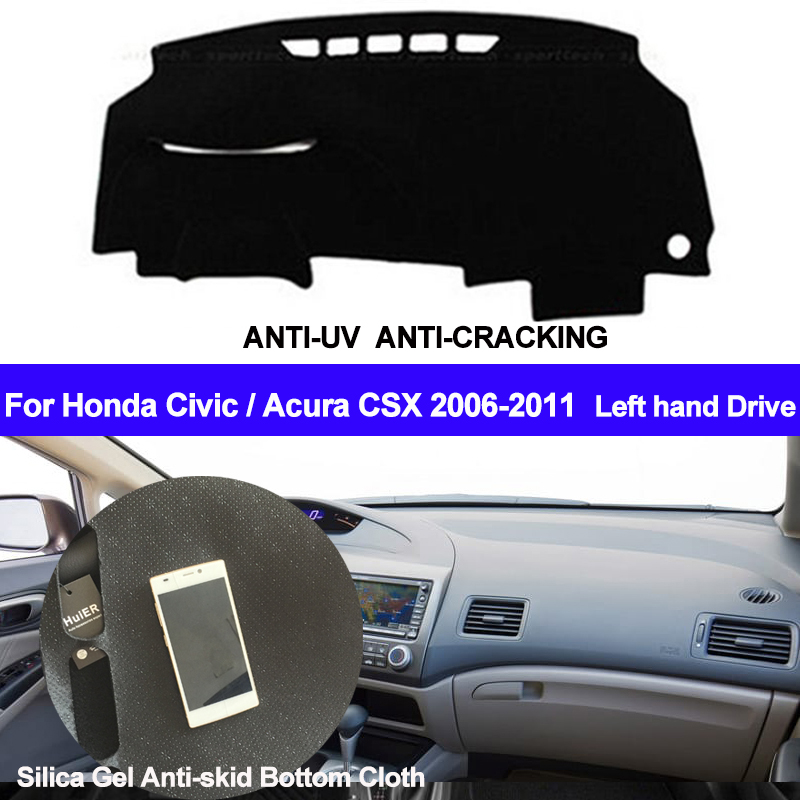 Car Dashboard Cover | TAIJS Car Dashboard Cover Silicone Non Slip Dash Mat Dash Pad Carpet For Honda Civic Acura CSX 2006 2007 2008 2009 2010 2011