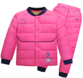 2016 clothes Children Suit Boys and Girls thick winter coat jacket + thermal pants White Duck down Children's jacket snowsuit