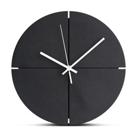 12 Inch Large Wooden Wall Clock Silent Wood Clock Modern Design Europe Hanging Wall Clocks for Living Room Office Home Decor