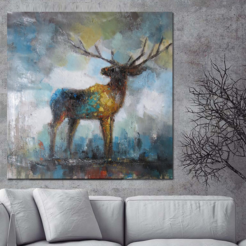 Abstract Elk Painting