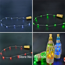 Cork Shaped Wine Bottle Stopper Light Christmas Tree Garland LED Wire Fairy String Light Party Supplies Wedding New Year Festoon