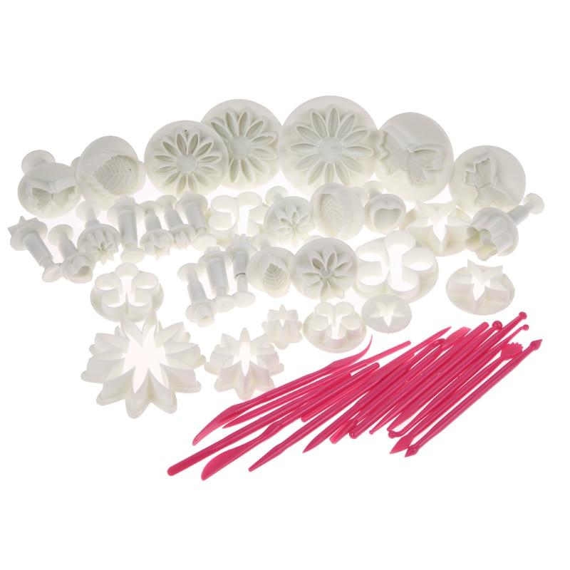 ₪47 unids/set flor sugarcraft molde de silicona para fondant plunger ...