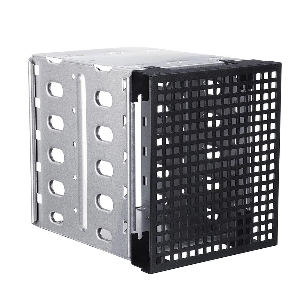 Wholesale New 5 Slots 3.5inch SATA SAS HDD Cage Rack Hard Driver Tray Caddy with Fan Space-in HDD Enclosure from Computer & Office