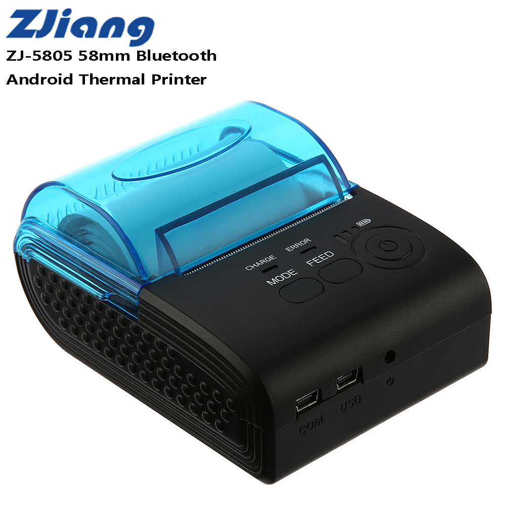 ZJIANG ZJ-5805 Pos Terminal 58mm Bluetooth 4.0 Android Mini POS Réception Imprimante Thermique Machine À Bill 1500 mah Taxi Bill impression