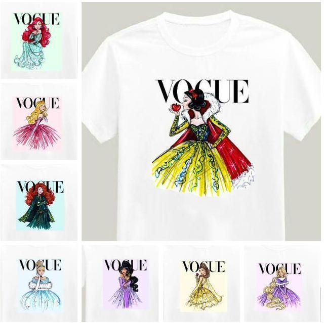 2017 A Estrenar Mujeres Camiseta Tatuaje Vogue Princesa Imprimir