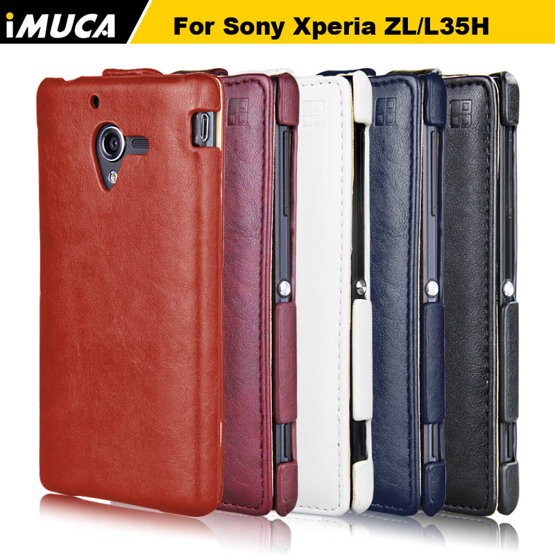 Sony Xperia ZL Case Flip Leather Case sony zl L35h C6503 C6502 phone case cover iMUCA mobile phone accessories capa