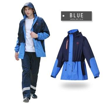 Leisure Men/Women Waterproof Motorcycling Rain Coat Rain Rainproof Raincoat Suits Contrast Color Poncho Tour Hiking Rainwear7R8
