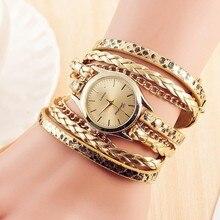 Luxury Brand Fashion Women Dress Handmade Bracelet Watch Ladies Casual Long Stra