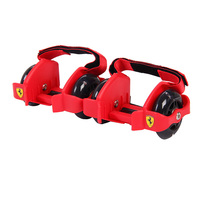 Ferrari Adjustable Simply Roller Skating Shoes with Dual Wheels Flashing Roller Wheels Heel Skate Rollers Shoe Skate Roller