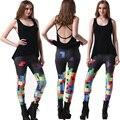 2016 New Autumn Fashion Slim Fitness Sporting Leggings Ropa Deporte Mujer Women Sexy Black Milk Digital Print Leggings 75AA496