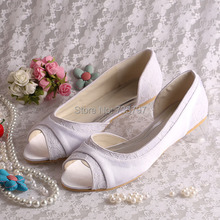 Wedopusออกแบบผู้หญิงแบนรองเท้าลำลองสำหรับงานแต่งงานชุดรองเท้าบัลเล่ต์ขนาดใหญ่ที่กำหนดเอง