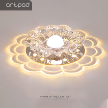 Artpad Crystal Modern Led Ceiling Light 3W 5W More Lighting Color Choice Surface Mounted Aisle Balcony Foyor