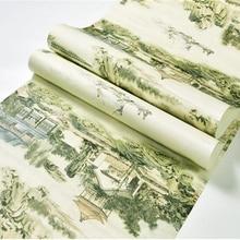 Beibehang китайский Ретро Пейзаж печати водонепроницаемый скраб ПВХ 3d обои спальня кабинет тв задний план крыльцо обои behang