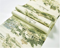 Beibehang retro Trung Quốc landscape in ấn chà chống thấm nước PVC 3d hình nền phòng ngủ nghiên cứu nền TV hiên tường giấy behang